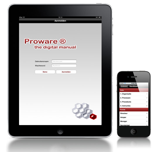 Proware op de iphone en ipad